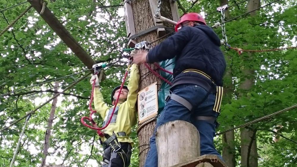 In den Kletterpark geht es am 25. Mai. Foto: Kommunale Jugendarbeit
