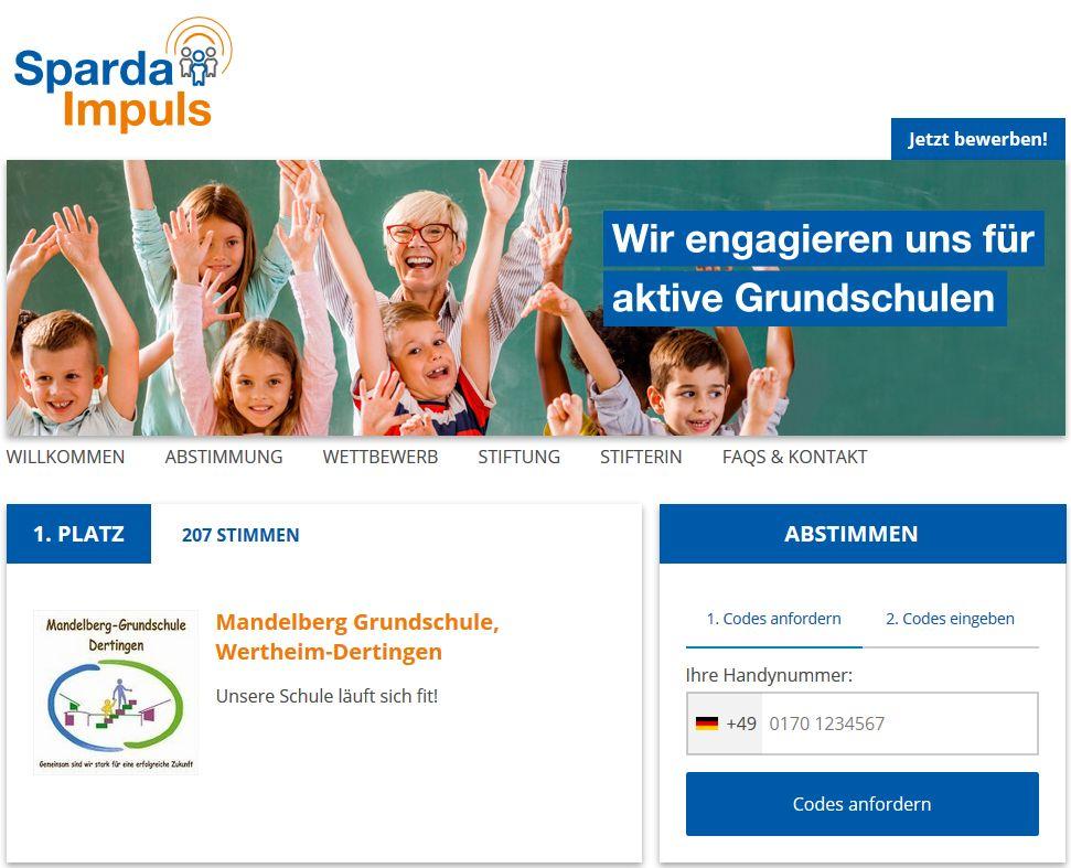 Mandelberg Grundschule, Wertheim-Dertingen nimmt am Wettbewerb SpardaImpuls 2018 teil! Jetzt gleich unter folgendem Link abstimmen >> https://www.spardaimpuls.de/profile/mandelberg-grundschule-dertingen/